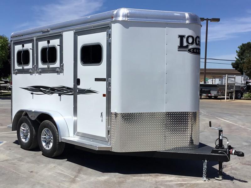 NEW 2019 Logan Coach 2 horse rampage Horse Trailer