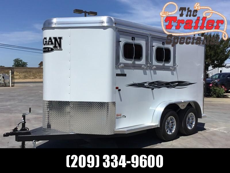 NEW 2019 Logan Coach 2 horse rampage Horse Trailer