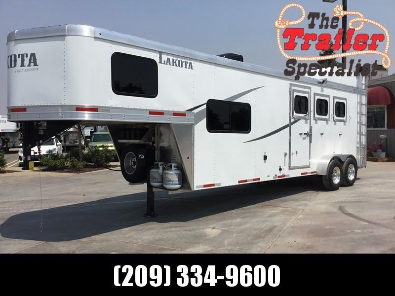 NEW 2019 Lakota Corp 3H Alum Colt GN LQ Horse Trailer