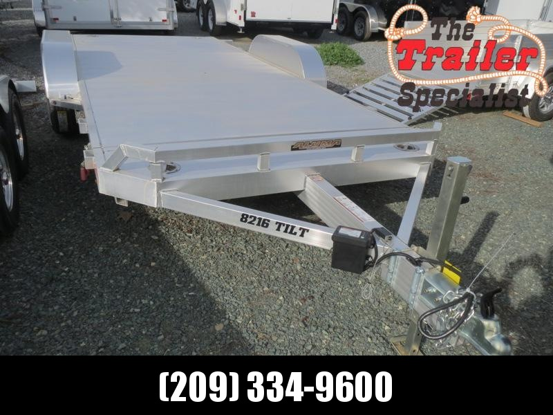 "New 2018 Aluma 8216Tilt 82""x16' Car Hauler Trailer Vin: 76074"