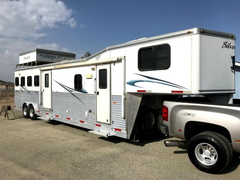 USED 2008 Silver Lite 4H 14ft LQ Horse Trailer OBO