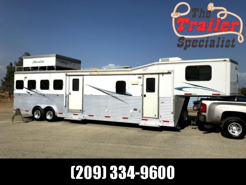 USED 2008 Silver Lite 4H 14ft LQ Horse Trailer in Ashburn, VA
