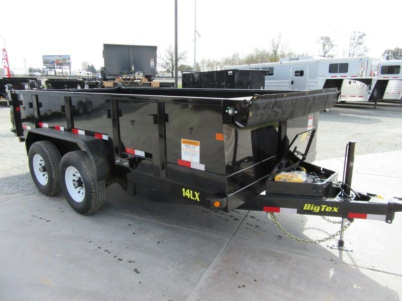 New 2019 Big Tex 14LX-14HJ 7x14 14K Dump Trailer hydraulic jack