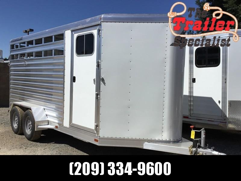 NEW 2019 Elite Trailers 3 Horse wrangler stock combo Bp Horse Trailer