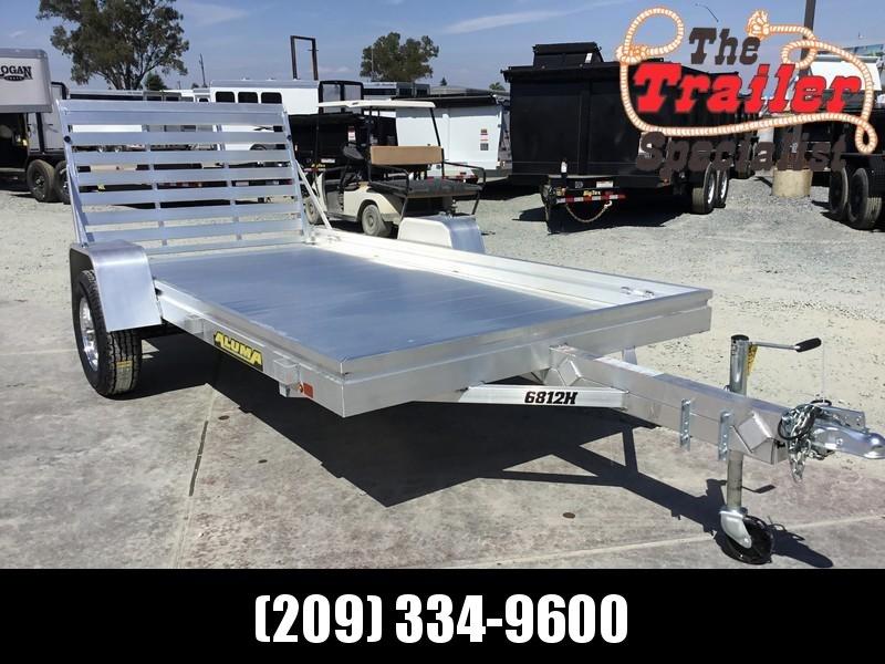 "2019 Aluma 6812H 38""x12' 3K Aluminum Utility Trailer"