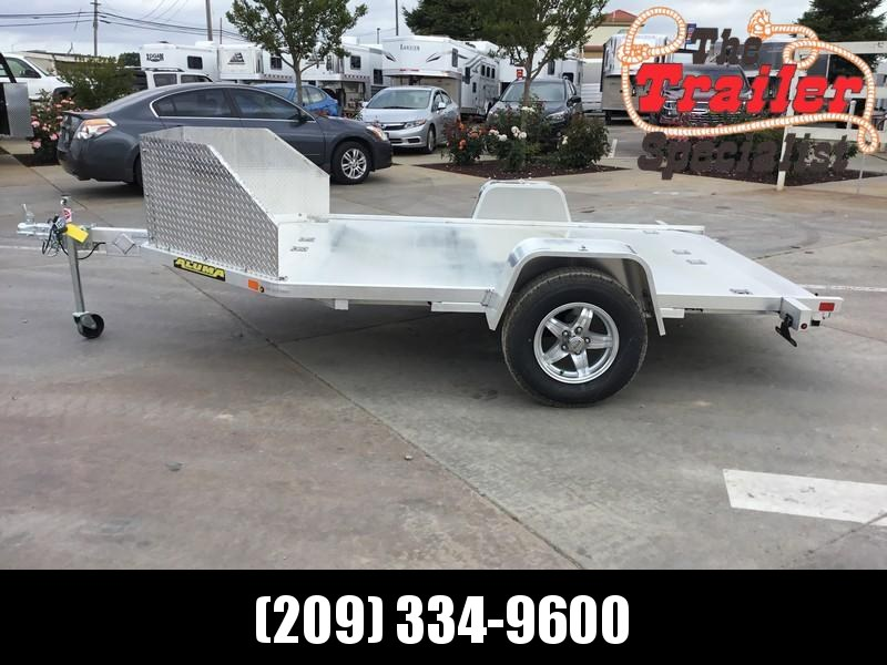 New 2019 Aluma MC210 Aluminum Motorcycle Trailer Vin: 83084