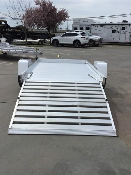 "NEW 2020 Aluma 6810HBT 68""x10' 3K GVW aluminum utility trailer"