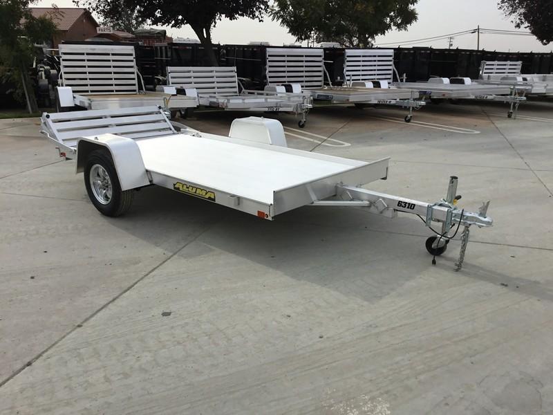 "New 2019 Aluma 6310BT Aluminum Utility Trailer 63""x10'"