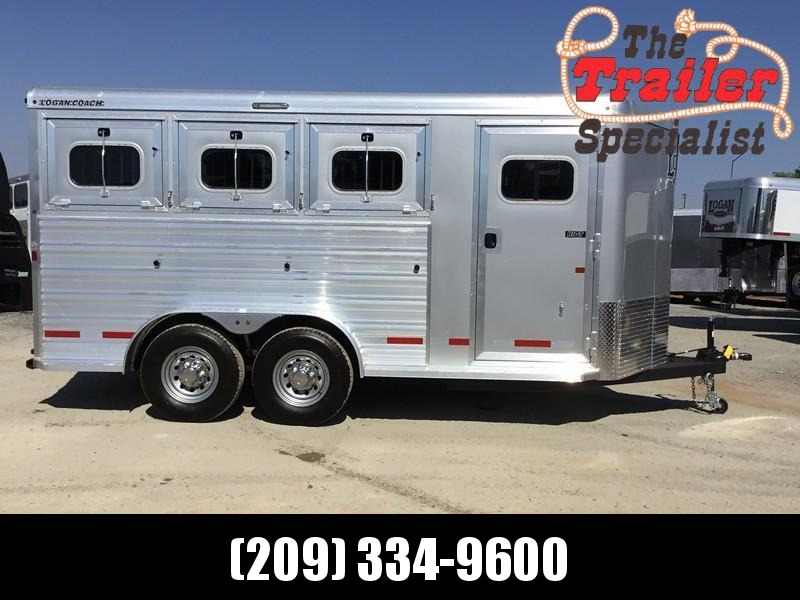 New 2019 Logan Coach Riot 3H BP Horse Trailer