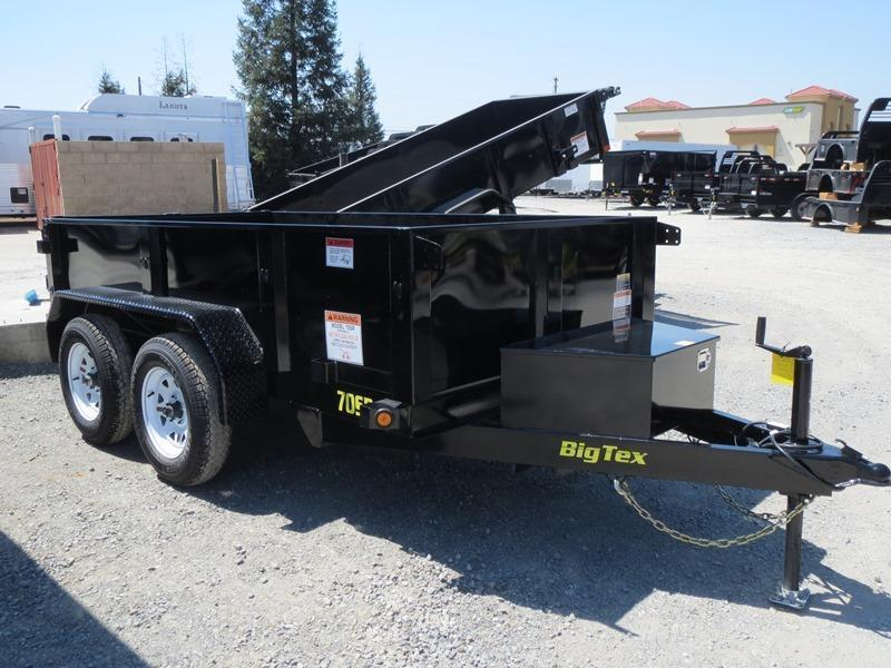 New 2017 Big Tex 70SR-10-5WDD 5x10 7K GVW Dump Trailer Vin:87348