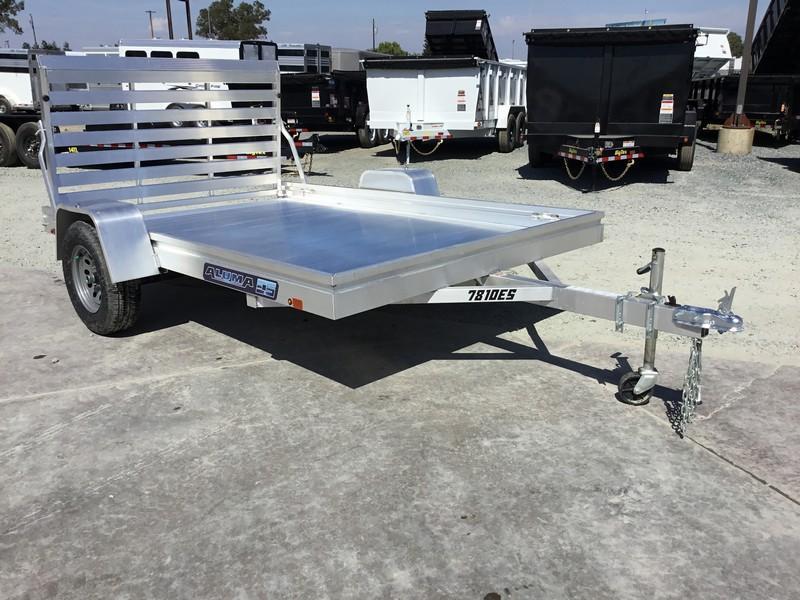 "New 2019 Aluma 7810ES 78""x10' Aluminum Utility Trailer"