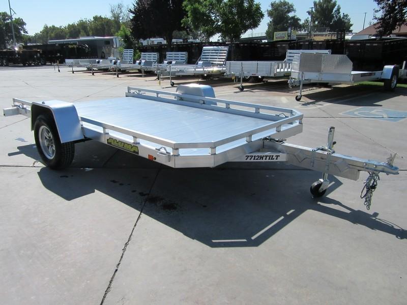 "New 2018 Aluma 7712Htilt 77""x12' aluminum utility trailer"
