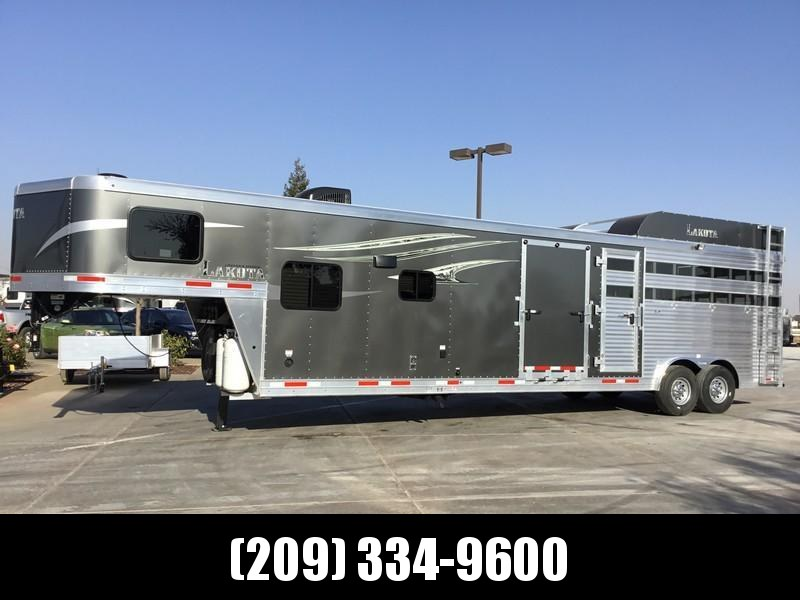 NEW 2019 Lakota 14 Livestock Edition Living Quarters Livestock Trailer