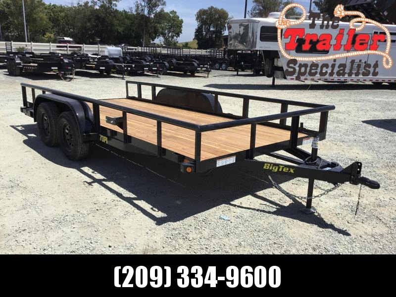 New 2019 Big Tex 70PI-16X 7x16 7K Pipe Utility Trailer