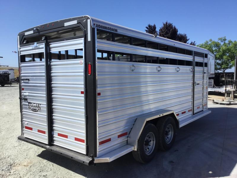 NEW 2019 Logan Coach 18 Stockman GN Horse Trailer