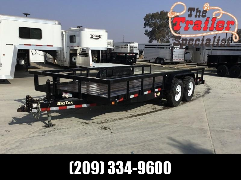 "Used 2015 Big Tex 14PI-18 Utility Trailer 83"" x 18 14K"