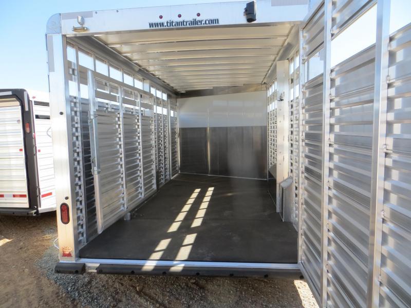 2016 Titan 20' Aluminum Stockcombo Gooseneck Trailer Vin: 72535
