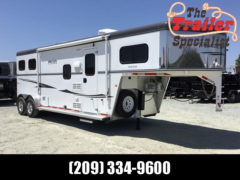 USED 2015 Trails West Manufacturing 2 Horse GN Sierra LQ Horse Trailer