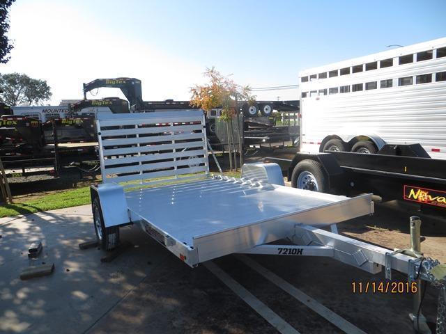 "New 2018 Aluma 7210H 72""x10' Aluminum Utility Trailer VIN63995"