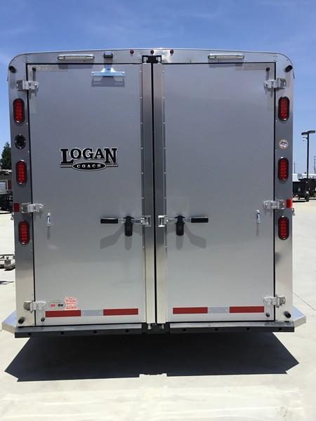 New 2019 Logan Coach 3 Horse Riot Double Door Tack Gn