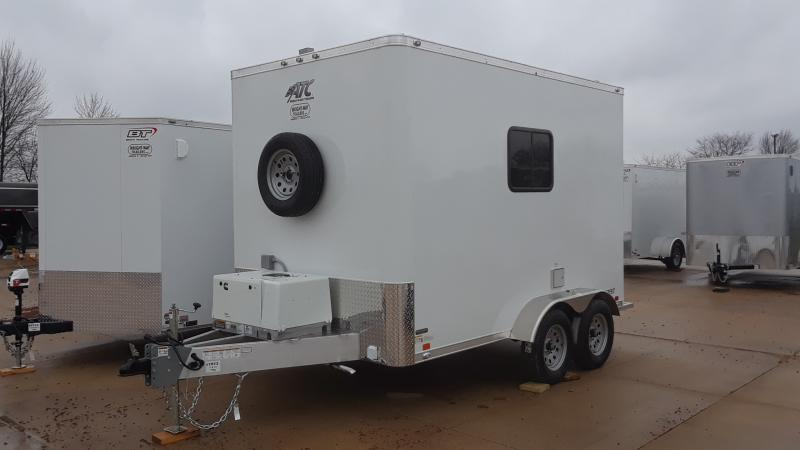 2019 ATC 7 X 12 FIBER OPTICS Enclosed Cargo Trailer in Ashburn, VA