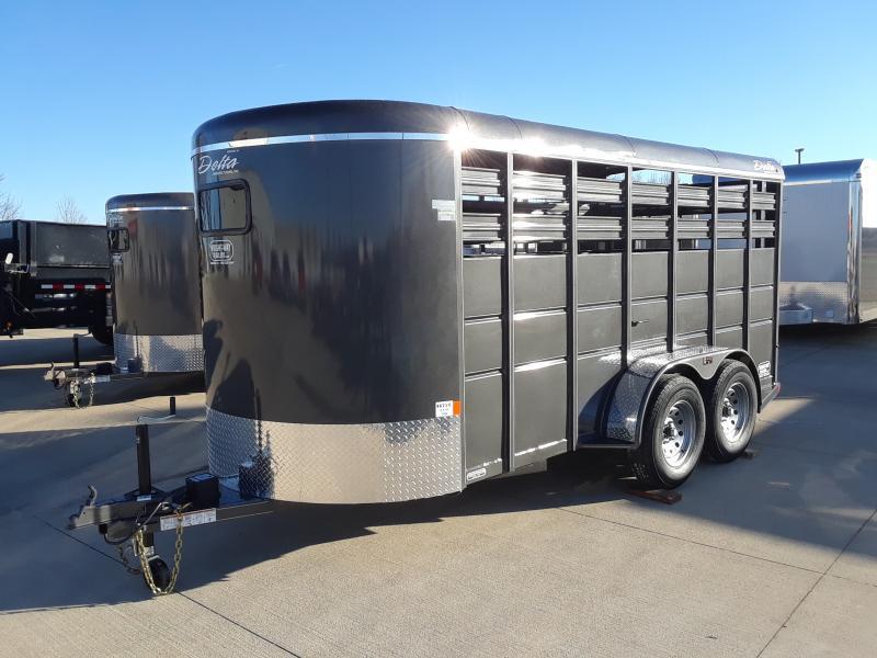 2019 Delta Manufacturing BUMPER STOCK Livestock Trailer