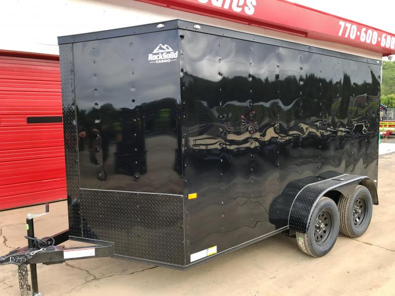 New Rock Solid 7 x 12 Tandem Cargo Trailer in Warne, NC