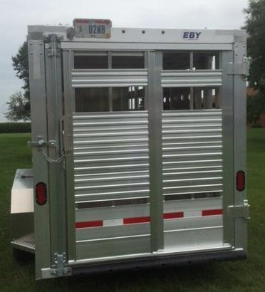 2019 Eby Maverick LS Bumper Hitch Livestock Trailer