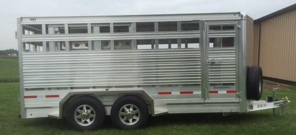 2019 Eby Maverick LS Bumpber Hitch Livestock Trailer