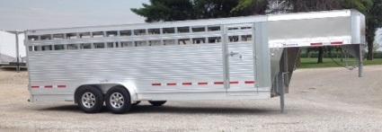 2019 Eby Maverick 7 X 24 Livestock Trailer