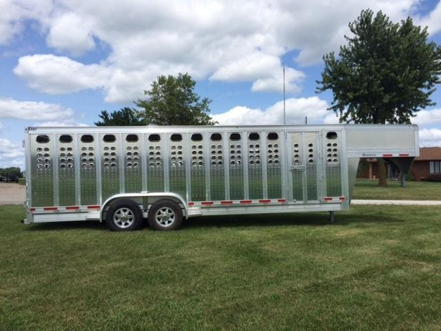 2019 Eby Maverick Punch Panel Livestock Trailer