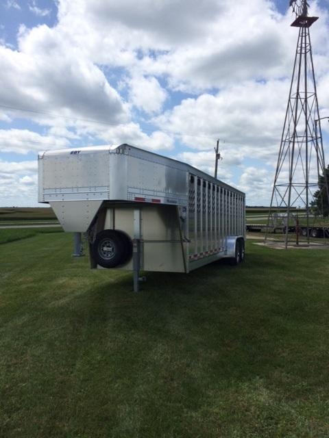 2019 Eby Maverick Punch Panel Livestock Trailer