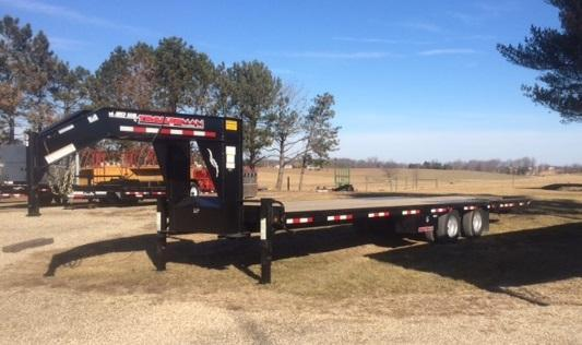 2019 Trailerman Trailers Inc. Hydraulic Dove Equipment Trailer