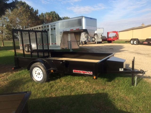 2019 Trailerman Trailers Inc. Solid Side 77 X 10 Utility Trailer