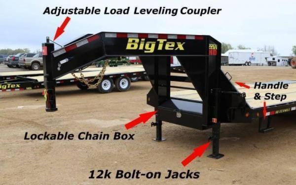2020 Big Tex Trailers 22GN-25+5MR Equipment Trailer 23.9K