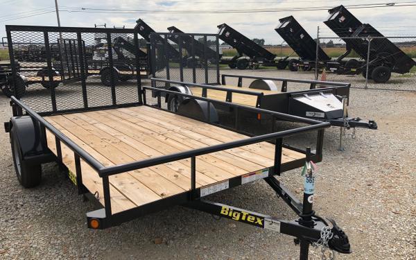 """2019 Big Tex Trailers 35ES 77"""" x 14 Utility Trailer"""
