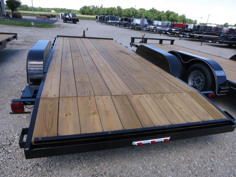 18' Car Trailers Wood Floor w/ ramps - Brake