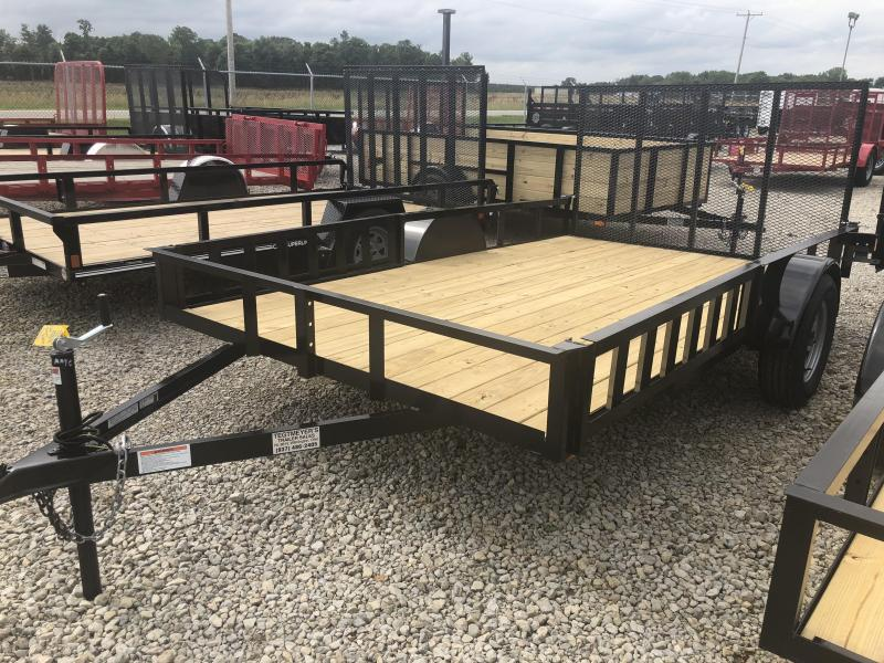 American Manufacturing 7x12 Utility Trailer w/ side ramps & gategate