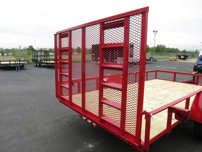 American Manufacturing 6x12 Utility Trailer w/ ramp in the gate