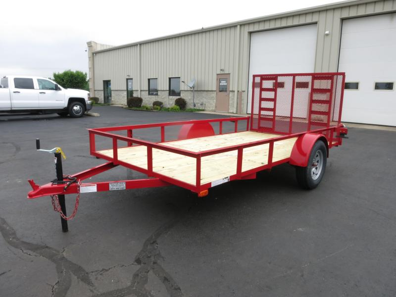 American Manufacturing 6x12 Utility Trailer w/ ramp in the gate