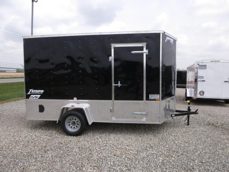 Homesteader Trailers 7x12 SA Enclosed Trailer w/ Ramp Door - D Rings - Extra hght