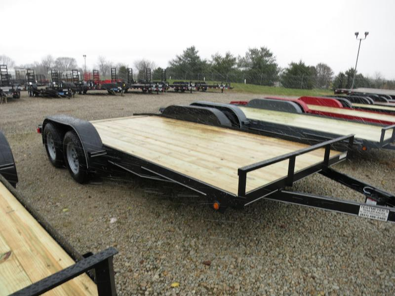Lone Wolf Trailers 16 Wood Floor Car Trailers W Ramps 7000 Gvw