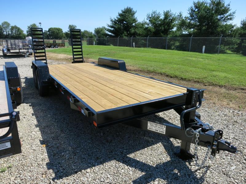 American Manufacturing 20' Flatbed Trailer Wood Floor w/ ramps - Brake in Ashburn, VA