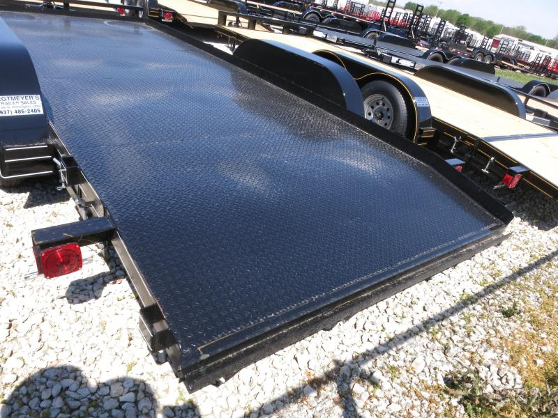 P&T Trailers 18' Steel Floor Car Hauler w/ ramps