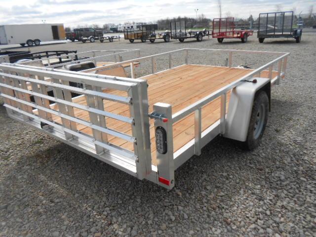 Sport Haven 6x12 Single Axle Aluminum Utility Trailer with Bi-Fold Gate