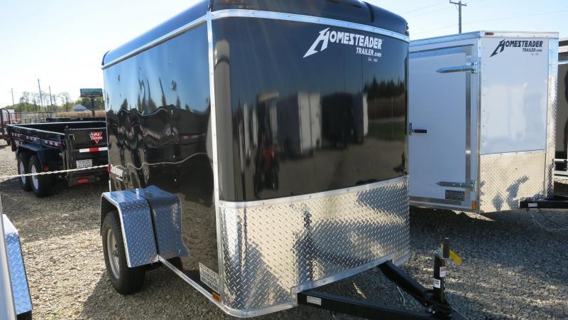 Homesteader 5x8 Single Axle Enclosed with Single Rear Door