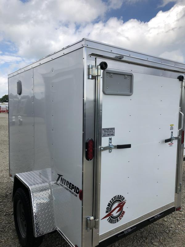 Homesteader 5x8 SA Enclosed Trailer w ramp door