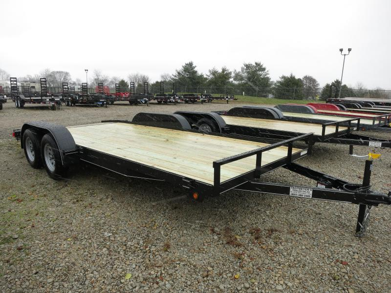 Lone Wolf Trailers 20' Wood Floor Car Trailers w/ ramps - 7000 GVW - BRAKE