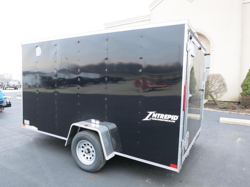 Homesteader 7x12 SA Enclosed Trailer w/ Ramp Door - D Rings - Vents Sidewall