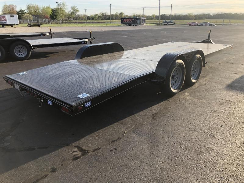 Nation Tank & Trailers - 20' Steel Floor Car Hauler w/ ramps - removable fenders
